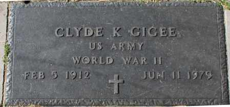 GIGEE, CLYDE K - Maricopa County, Arizona | CLYDE K GIGEE - Arizona Gravestone Photos