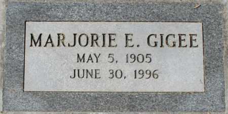 GIGEE, MARJORIE E - Maricopa County, Arizona | MARJORIE E GIGEE - Arizona Gravestone Photos
