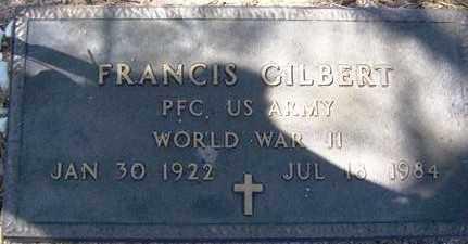 GILBERT, FRANCIS - Maricopa County, Arizona | FRANCIS GILBERT - Arizona Gravestone Photos