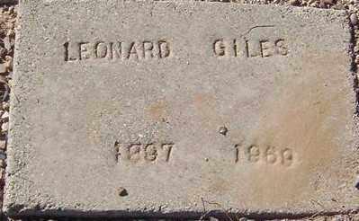 GILES, LEONARD - Maricopa County, Arizona | LEONARD GILES - Arizona Gravestone Photos