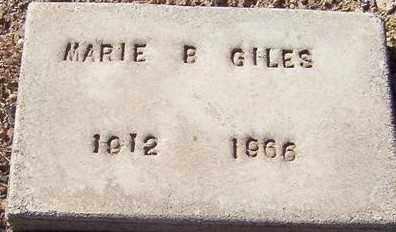 GILES, MARIE B. - Maricopa County, Arizona | MARIE B. GILES - Arizona Gravestone Photos
