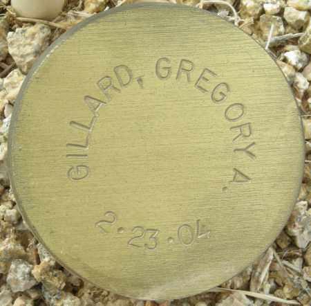 GILLARD, GREGORY A. - Maricopa County, Arizona | GREGORY A. GILLARD - Arizona Gravestone Photos