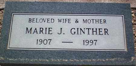 GINTHER, MARIE J. - Maricopa County, Arizona | MARIE J. GINTHER - Arizona Gravestone Photos