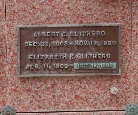GLITHERO, ALBERT E. - Maricopa County, Arizona   ALBERT E. GLITHERO - Arizona Gravestone Photos