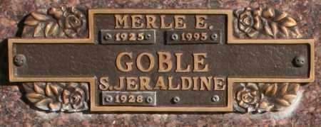 GOBLE, S. JERALDINE - Maricopa County, Arizona   S. JERALDINE GOBLE - Arizona Gravestone Photos