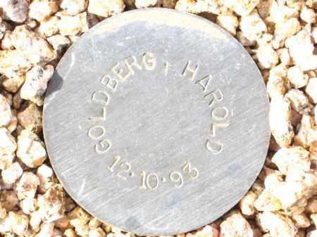 GOLDBERG, HAROLD - Maricopa County, Arizona   HAROLD GOLDBERG - Arizona Gravestone Photos