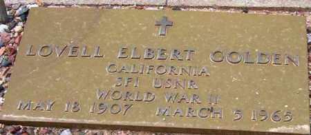 GOLDEN, LOVELL ELBERT - Maricopa County, Arizona | LOVELL ELBERT GOLDEN - Arizona Gravestone Photos
