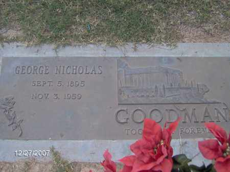 GOODMAN, GEORGE NICHOLAS - Maricopa County, Arizona | GEORGE NICHOLAS GOODMAN - Arizona Gravestone Photos