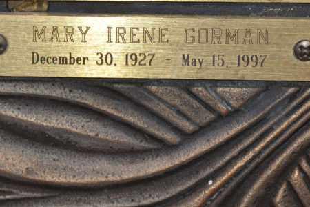 GORMAN, MARY IRENE - Maricopa County, Arizona | MARY IRENE GORMAN - Arizona Gravestone Photos