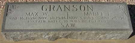 GRANSON, MAX W. - Maricopa County, Arizona | MAX W. GRANSON - Arizona Gravestone Photos
