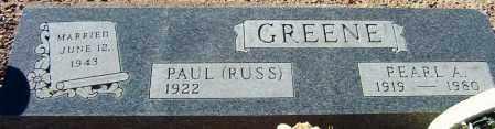 GREENE, PAUL RUSSELL (RUSS) - Maricopa County, Arizona | PAUL RUSSELL (RUSS) GREENE - Arizona Gravestone Photos