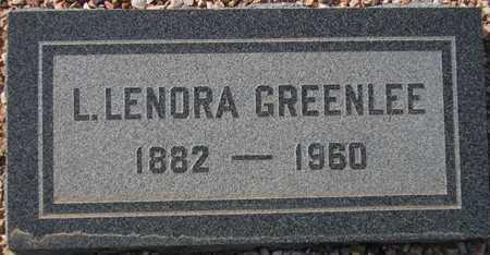 GREENLEE, L. LENORA - Maricopa County, Arizona | L. LENORA GREENLEE - Arizona Gravestone Photos