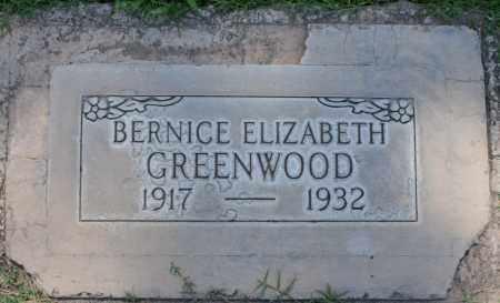 GREENWOOD, BERNICE ELIZABETH - Maricopa County, Arizona | BERNICE ELIZABETH GREENWOOD - Arizona Gravestone Photos