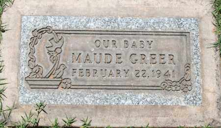 GREER, MAUDE - Maricopa County, Arizona   MAUDE GREER - Arizona Gravestone Photos
