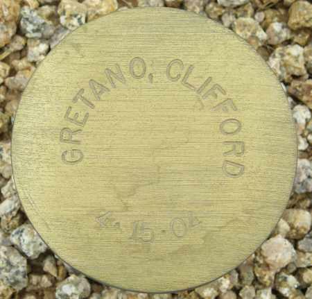 GRETANO, CLIFFORD - Maricopa County, Arizona | CLIFFORD GRETANO - Arizona Gravestone Photos