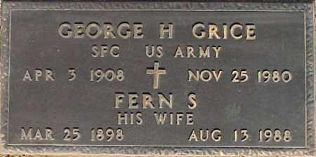GRICE, FERN S. - Maricopa County, Arizona | FERN S. GRICE - Arizona Gravestone Photos