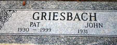 GRIESBACH, PATRICIA M. - Maricopa County, Arizona   PATRICIA M. GRIESBACH - Arizona Gravestone Photos