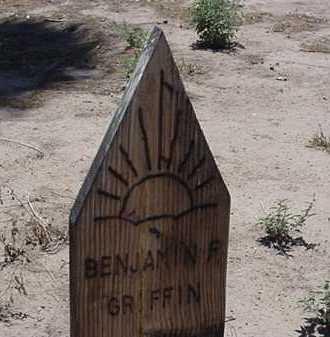 GRIFFIN, BENJAMIN F - Maricopa County, Arizona | BENJAMIN F GRIFFIN - Arizona Gravestone Photos