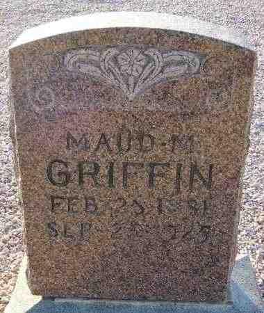 GRIFFIN, MAUD M. - Maricopa County, Arizona | MAUD M. GRIFFIN - Arizona Gravestone Photos