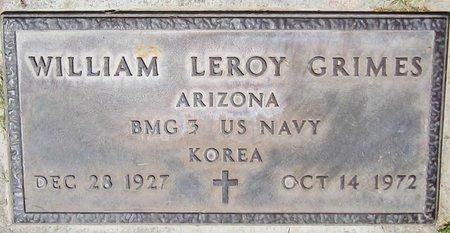 GRIMES, WILLIAM LEROY - Maricopa County, Arizona | WILLIAM LEROY GRIMES - Arizona Gravestone Photos