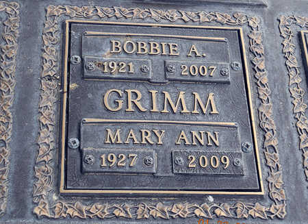 GRIMM, MARY ANN - Maricopa County, Arizona | MARY ANN GRIMM - Arizona Gravestone Photos