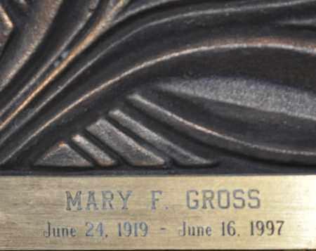 GROSS, MARY F. - Maricopa County, Arizona | MARY F. GROSS - Arizona Gravestone Photos