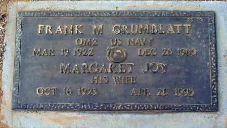 GRUMBLATT, MARGARET JOY - Maricopa County, Arizona | MARGARET JOY GRUMBLATT - Arizona Gravestone Photos