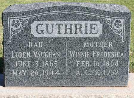 "JOHNSON GUTHRIE, WINIFRED ""WINNIE"" FREDERICA - Maricopa County, Arizona | WINIFRED ""WINNIE"" FREDERICA JOHNSON GUTHRIE - Arizona Gravestone Photos"