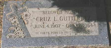 GUTIERREZ, CRUZ L. - Maricopa County, Arizona | CRUZ L. GUTIERREZ - Arizona Gravestone Photos