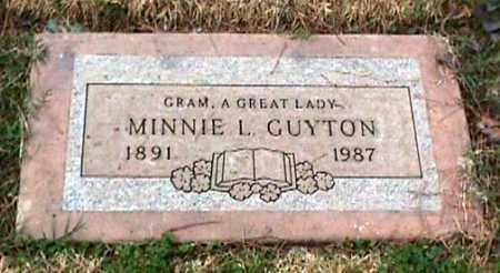 GUYTON, MINNIE L. - Maricopa County, Arizona | MINNIE L. GUYTON - Arizona Gravestone Photos