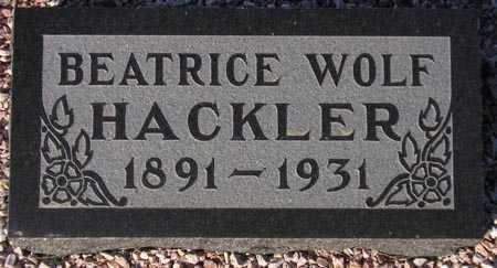 HACKLER, BEATRICE WOLF - Maricopa County, Arizona | BEATRICE WOLF HACKLER - Arizona Gravestone Photos
