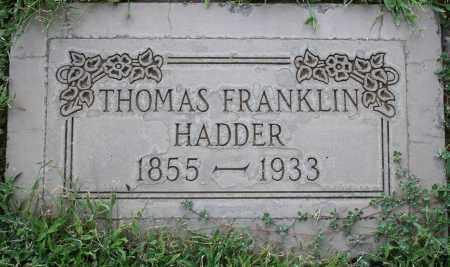HADDER, THOMAS FRANKLIN - Maricopa County, Arizona | THOMAS FRANKLIN HADDER - Arizona Gravestone Photos