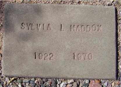 HADDOX, SYLVIA L. - Maricopa County, Arizona | SYLVIA L. HADDOX - Arizona Gravestone Photos