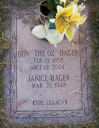 "HAGER, DON ""THE OZ"" - Maricopa County, Arizona 