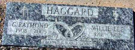 HAGGARD, WILLIE LEE - Maricopa County, Arizona | WILLIE LEE HAGGARD - Arizona Gravestone Photos