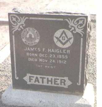 HAIGLER, JAMES F. - Maricopa County, Arizona | JAMES F. HAIGLER - Arizona Gravestone Photos