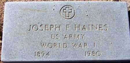 HAINES, JOSEPH F. - Maricopa County, Arizona | JOSEPH F. HAINES - Arizona Gravestone Photos