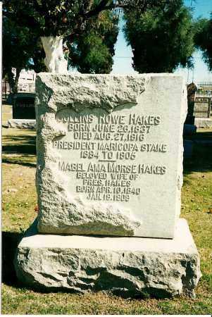 HAKES, COLLINS ROWE - Maricopa County, Arizona | COLLINS ROWE HAKES - Arizona Gravestone Photos