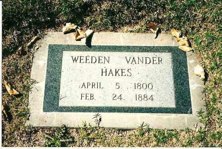 HAKES, WEEDEN VANDER - Maricopa County, Arizona | WEEDEN VANDER HAKES - Arizona Gravestone Photos