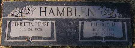 HAMBLEN, HENRIETTA (OPAL) - Maricopa County, Arizona | HENRIETTA (OPAL) HAMBLEN - Arizona Gravestone Photos