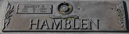 HAMBLEN, ERNEST E. - Maricopa County, Arizona   ERNEST E. HAMBLEN - Arizona Gravestone Photos