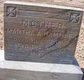 HAMMACK, MARTHA A. - Maricopa County, Arizona | MARTHA A. HAMMACK - Arizona Gravestone Photos