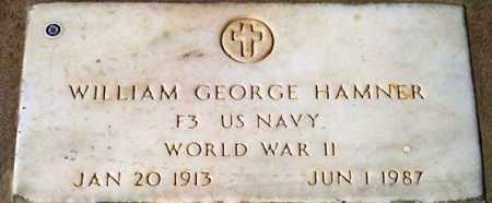 HAMNER, WILLAM GEORGE - Maricopa County, Arizona   WILLAM GEORGE HAMNER - Arizona Gravestone Photos