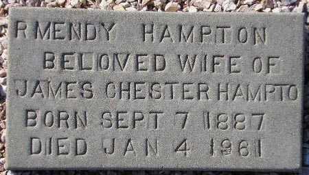 HAMPTON, R. MENDY - Maricopa County, Arizona | R. MENDY HAMPTON - Arizona Gravestone Photos