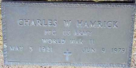 HAMRICK, CHARLES W. - Maricopa County, Arizona | CHARLES W. HAMRICK - Arizona Gravestone Photos