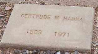HANNA, GERTRUDE M. - Maricopa County, Arizona   GERTRUDE M. HANNA - Arizona Gravestone Photos