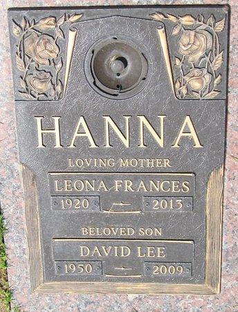 HANNA, LEONA FRANCES - Maricopa County, Arizona | LEONA FRANCES HANNA - Arizona Gravestone Photos