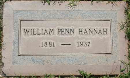 "HANNAH, WILLIAM PENN ""BUCK"" - Maricopa County, Arizona 