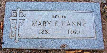 HANNE, MARY F. - Maricopa County, Arizona | MARY F. HANNE - Arizona Gravestone Photos