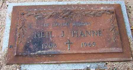 HANNE, NEIL J. - Maricopa County, Arizona   NEIL J. HANNE - Arizona Gravestone Photos